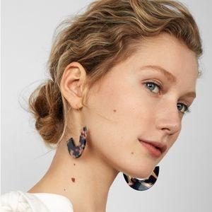 Jewelry - Open hoop earrings rose blue acetate acrylic light
